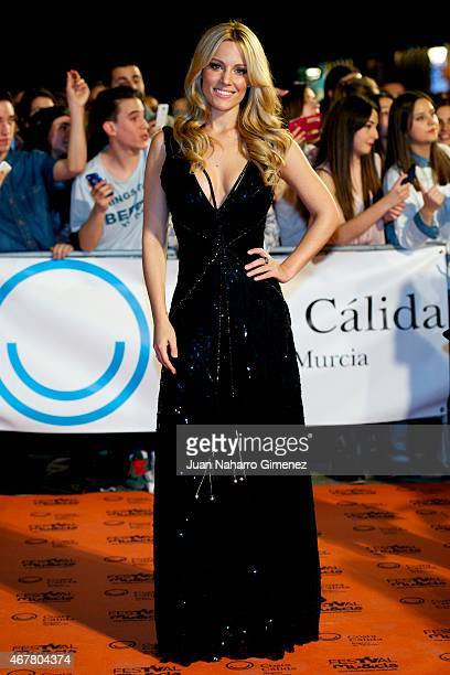 Edurne attends closing ceremony of the FesTVal Murcia 2015 at Julian Romea theater on March 27 2015 in Murcia Spain