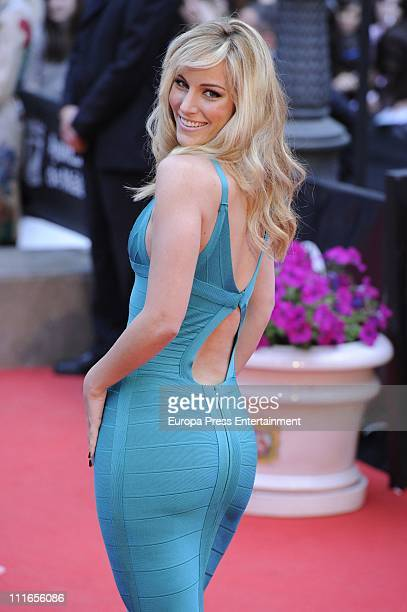Edurne attends the 14th Malaga Film Festival closing ceremony dressed by Gucci at Cervantes Theatre on April 3 2011 in Malaga Spain