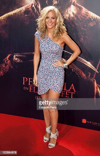 Edurne attends the premiere of 'A nightmare on Elm Street' at Capitol Cinema on July 13 2010 in Madrid Spain