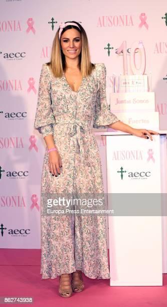 Edurne attends the presentation of Ausonia and AECC Against Breast Cancer campaign 'Juntas somos mas fuertes' on October 17 2017 in Madrid Spain