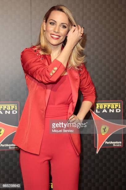 Edurne Garcia Almagro attends the new Ferrari Land at Port Aventura World on April 6 2017 in Tarragona Spain