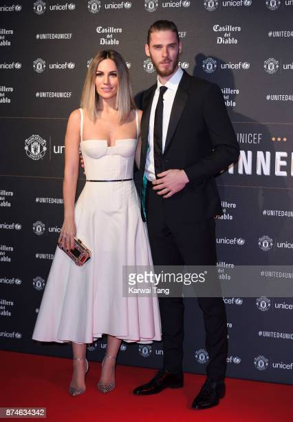 Edurne Garcia and David de Gea attend the United for Unicef Gala Dinner at Old Trafford on November 15 2017 in Manchester England
