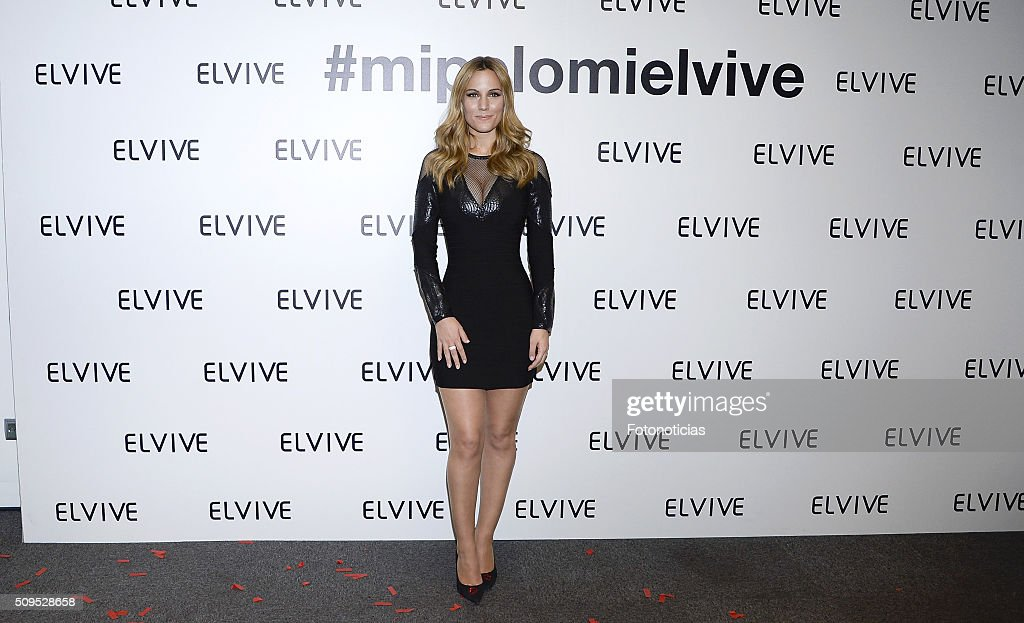 Edurne is presented as a new Elvive Ambassador at the ME Reina Victoria Hotel on February 11, 2016 in Madrid, Spain.