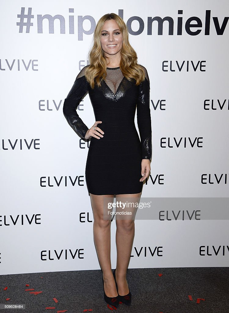 Edurne is presented as the new Elvive Ambassador at the ME Reina Victoria Hotel on February 11, 2016 in Madrid, Spain.