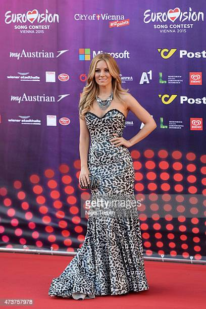 Edurne of Spain arrives to the Opening Ceremony of the Eurovision Song Contest 2015 on May 17 2015 in Vienna Austria