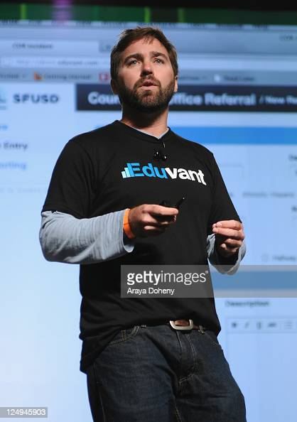 Eduvant Founder Stuart Frye speaks onstage at Day 3 of TechCrunch Disrupt SF 2011 held at the San Francisco Design Center Concourse on September 14...