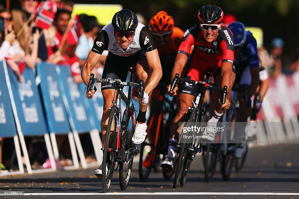 <a gi-track='captionPersonalityLinkClicked' href=/galleries/search?phrase=Edvald+Boasson+Hagen&family=editorial&specificpeople=4451245 ng-click='$event.stopPropagation()'>Edvald Boasson Hagen</a> of Norway and Dimension Data crosses the line to win stage five of the 2016 Tour of Oman, a 119.5km road stage from Yiti (Al Sifah) to the Ministry of Tourism, on February 20, 2016 in Muscat, Oman.