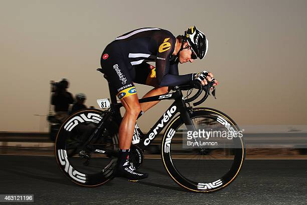 Edvald Boasson Hagen of Norway and MTNQhubeka in action on stage three of the 2015 Tour of Qatar a 109km individual time trial at the Lusail motor...