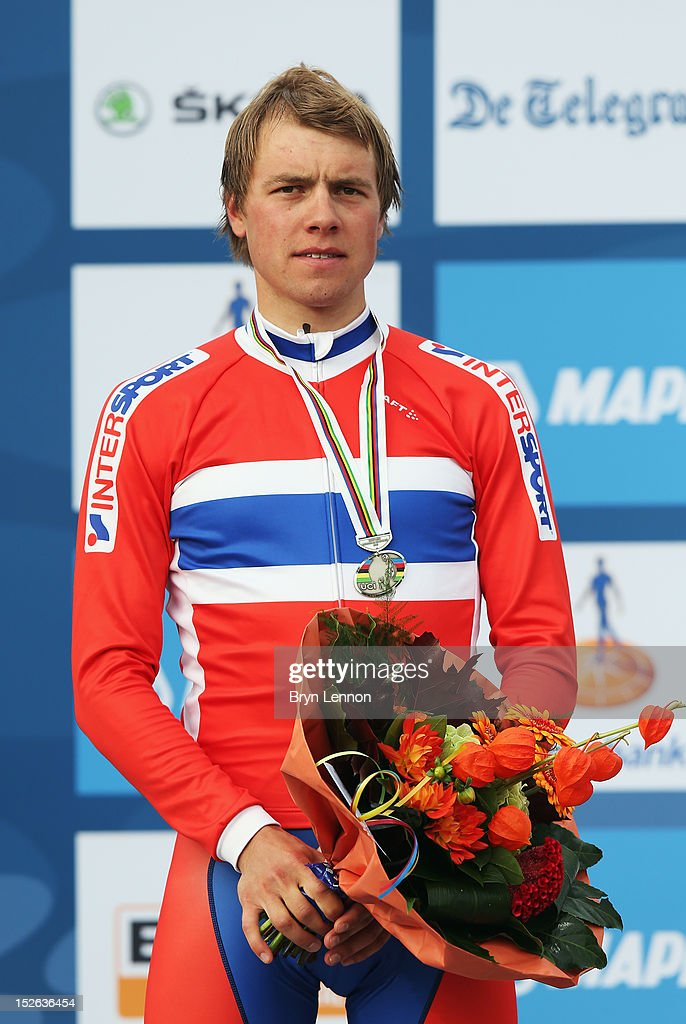 Edvald Boasson Hagen of Norway finished second in the Men's Elite Road Race on day eight of the UCI Road World Championships on September 23, 2012 in Valkenburg, Netherlands.