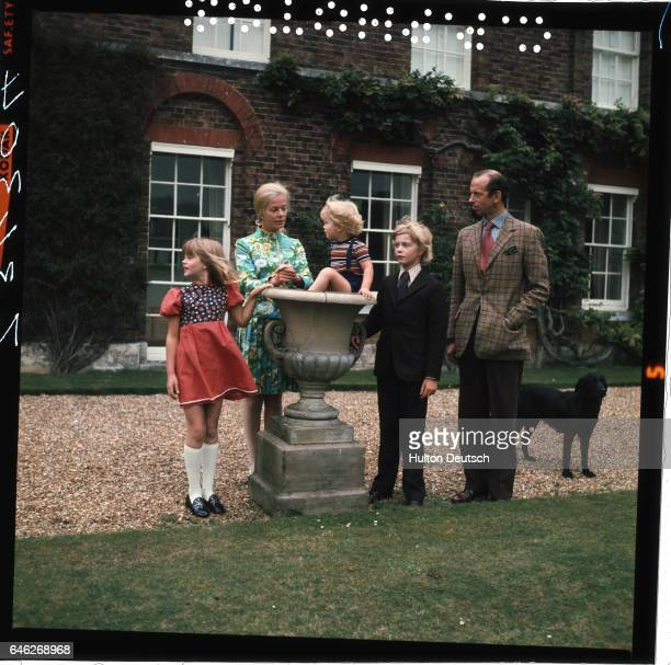 Edward and Katharine Duke and Duchess of Kent with their children George Earl of St Andrews Lady Helen Windsor and Lord Nicholas Windsor