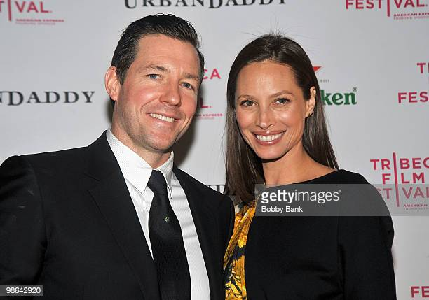 Edward Burns and Christy Turlington attend the 'Nice Guy Johnny' premiere after party during the 9th Annual Tribeca Film Festival at City Hall on...