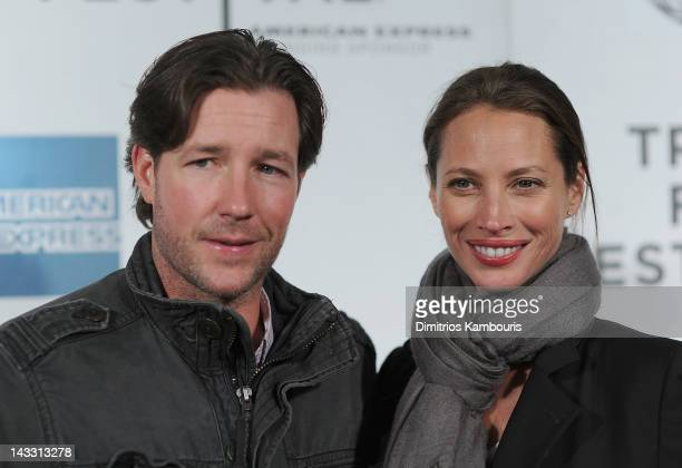 Edward Burns and Christy Turlington attend the premiere of 'Hysteria' during the 2012 Tribeca Film Festival at BMCC Tribeca PAC on April 23 2012 in...
