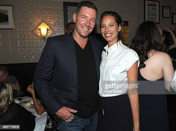 Edward Burns and Christy Turlington Burns attend The NYMag Vulture TNT Celebrate the Premiere of 'Public Morals' on August 12 2015 in New York City