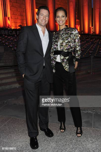 Edward Burns and Christy Turlington Burns attend VANITY FAIR TRIBECA FILM FESTIVAL Opening Night Dinner Hosted by ROBERT DE NIRO GRAYDON CARTER and...