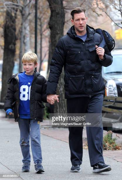Edward Burns is seen walking with his son Finn Burns on December 04 2013 in New York City