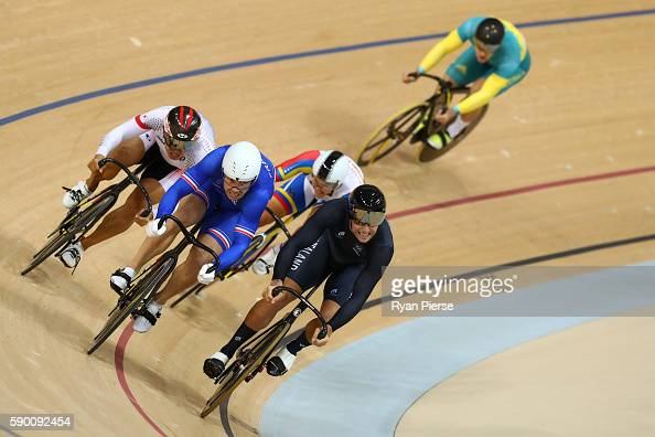 Edward Dawkins of New Zealand Francois Pervis of France Yuta Wakimoto of Japan Angel Pulgar of Venezuela and Patrick Constable of Australia compete...