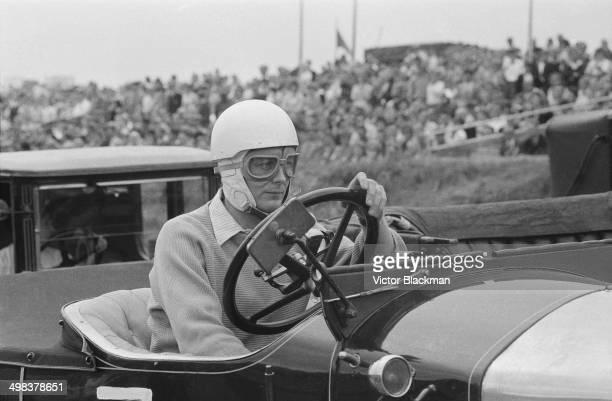 Edward DouglasScottMontagu 3rd Baron Montagu of Beaulieu during the Veteran Edwardian and Vintage Cars event at Brands Hatch UK 4th August 1958 He...