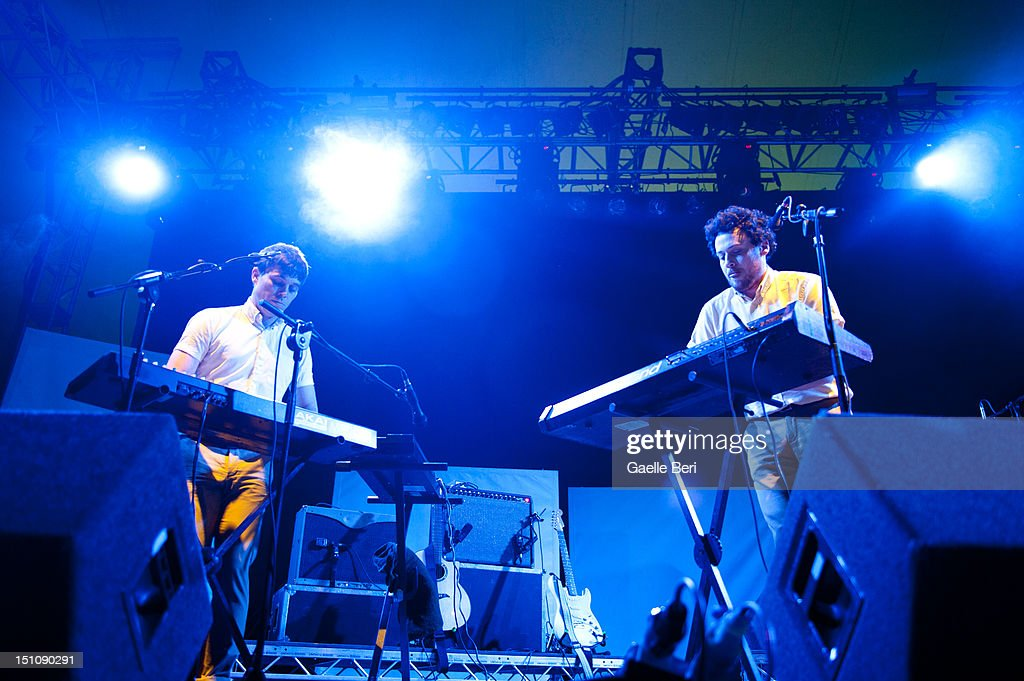 Edward Droste of Grizzly Bear performs on stage during Electric Picnic on August 31, 2012 in Stradbally, Ireland.
