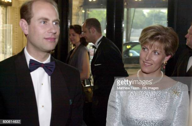 Edward Earl of Wessex and Sophie Countess of Wessex arrive at the Royal Albert Hall in London for a celebrationary concert to mark the 45th...