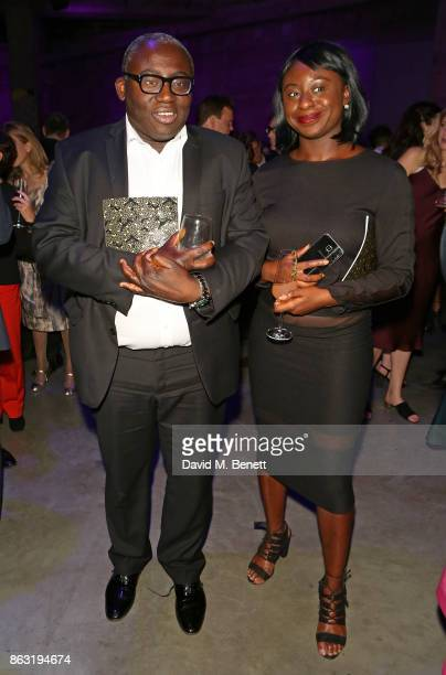 Edward Enninfu and guest attend The London Evening Standard's Progress 1000 London's Most Influential People in partnership with Citi on October 19...