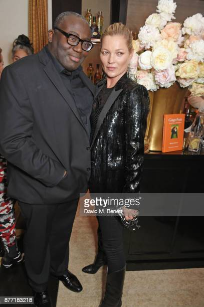 Edward Enninful and Kate Moss attend Louis Vuittons Celebration of GingerNutz in Vogue's December Issue on November 21 2017 in London England