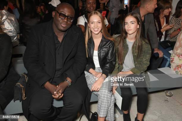 Edward Enninful Lila Grace Moss Hack and Stella Jones attend Topshop's London Fashion Week show on September 17 2017 in London England