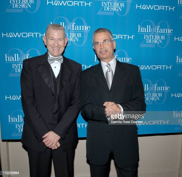Edward Feiner And Mark Strauss During Interior Design Magazine Hall Of Fame At Waldorf Astoria Hotel