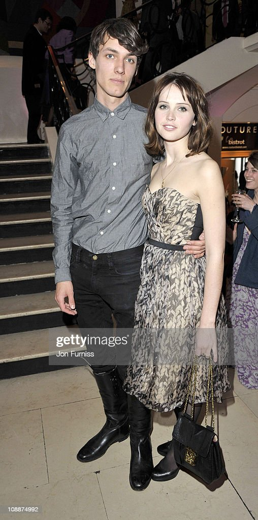 Edward Fornieles and Felicity Jones attend the UK premiere of 'Cheri' at Cine lumiere on May 6, 2009 in London, England.