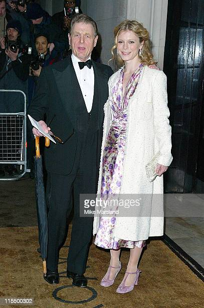 Edward Fox and daughter Emilia Fox during The 2004 Evening Standard Film Awards Arrivals at The Savoy London WC2 in London Great Britain