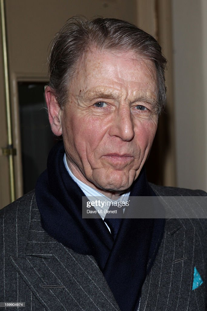 Edward Fox attends the press night for 'The Judas Kiss' at Duke of York's Theatre on January 22, 2013 in London, England.