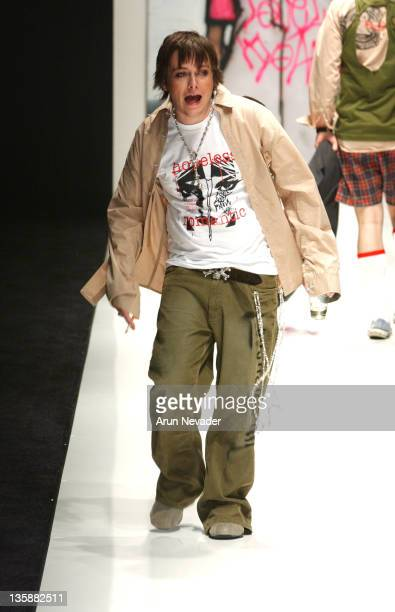 Edward Furlong wearing a Kloz Horse design during Smashbox LA Fashion Week Spring 2004 Kloz Horse Show at Smashbox Studios in Culver City CA United...