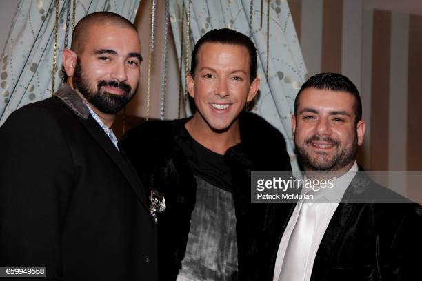 Edward Garou Derek Warburton and Joseph Magnone attend New London Luxe Hosted by Derek Loves Shopping and Chic Unique New York at New London Luxe on...