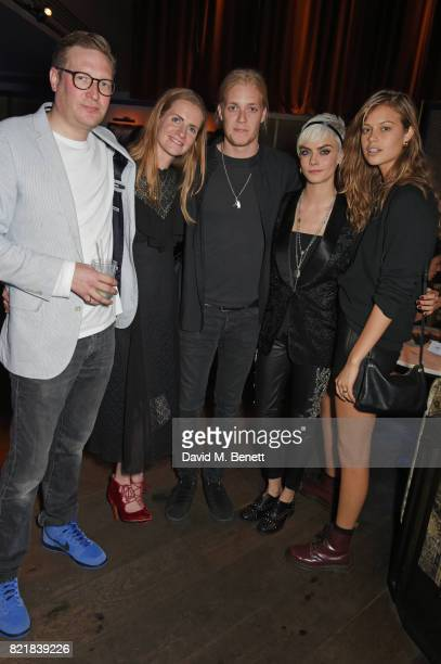 Edward Grant Chloe Delevingne Rufus Tiger Taylor Cara Delevingne and Jessica Clarke attend the after party for the European Premiere of 'Valerian And...