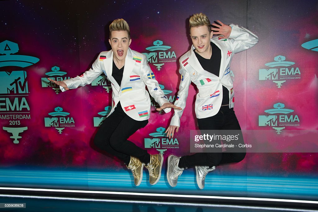 Edward Grimes and John Grimes attend the MTV EMA's 2013 at the Ziggo Dome in Amsterdam, Netherlands.