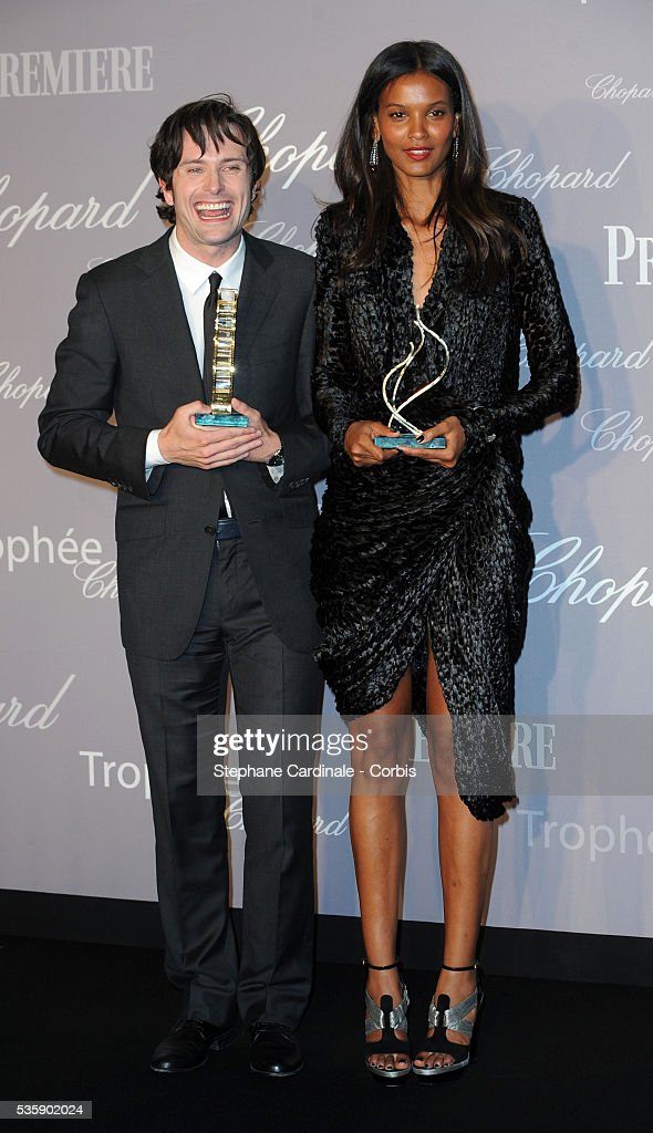 Edward Hogg and Liya Kebede at the Chopard Trophy during the 63rd Cannes International Film Festival.