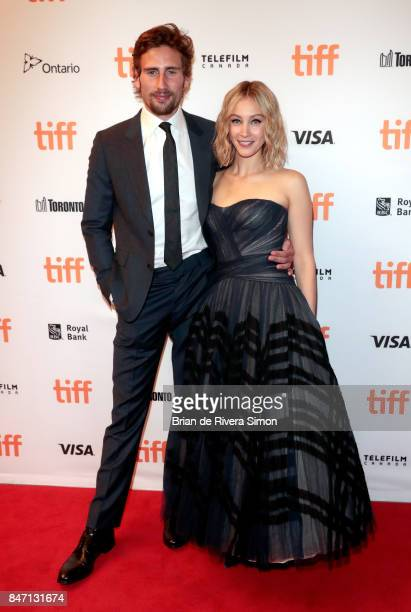 Edward Holcroft and Sarah Gadon attend the 'Alias Grace' premiere during the 2017 Toronto International Film Festival at Winter Garden Theatre on...