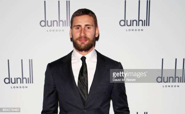 Edward Holcroft attends the dunhill and Dylan Jones preBAFTA dinner and cocktail reception celebrating Gentlemen in Film at Bourdon House on February...
