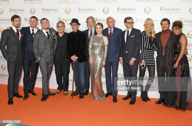 Edward Holcroft Channing Tatum Taron Egerton Sir Elton John director Matthew Vaughn Jeff Bridges Julianne Moore Mark Strong Colin Firth Claudia...