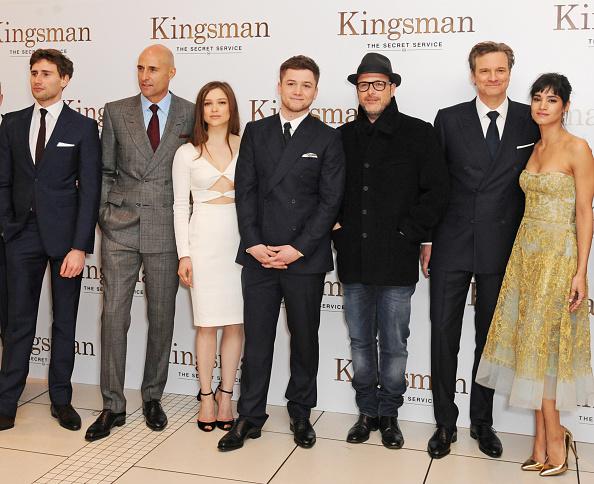 Colin Firth Taron Egerton Sophie Cookson About Kingsman: Sophie Cookson Stock Photos And Pictures