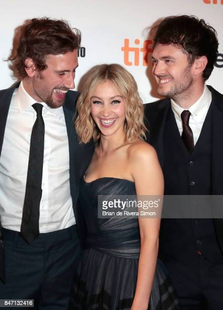 Edward Holcroft Sarah Gadon and Kerr Logan attend the 'Alias Grace' premiere during the 2017 Toronto International Film Festival at Winter Garden...