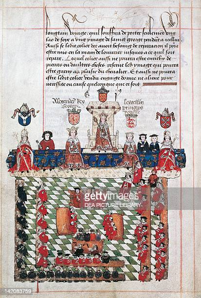 Edward I attending a parliamentary meeting Great Britain 13th Century