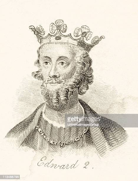 Edward II of Caernarfon 1284 1327 King of England 13071327 From the book Crabbs Historical Dictionary published 1825