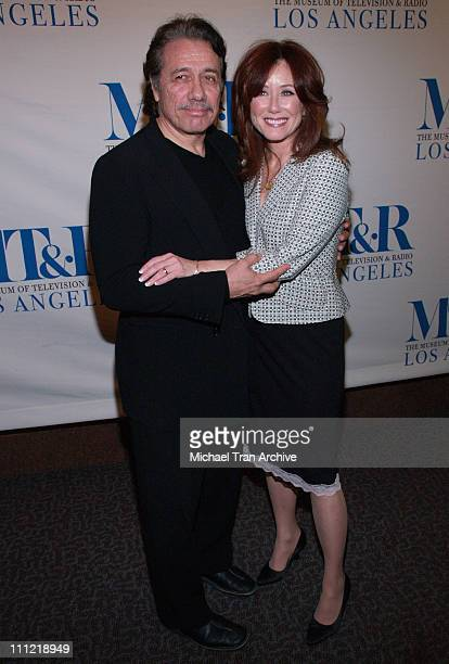 Edward James Olmos and Mary McDonnell during The Museum of Television Radio Presents The 23rd Annual William S Paley Television Festival An Evening...