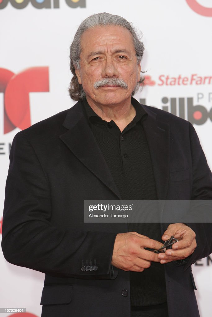Edward James Olmos arrives at Billboard Latin Music Awards 2013 at Bank United Center on April 25, 2013 in Miami, Florida.