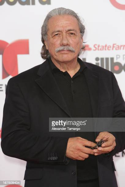 Edward James Olmos arrives at Billboard Latin Music Awards 2013 at Bank United Center on April 25 2013 in Miami Florida