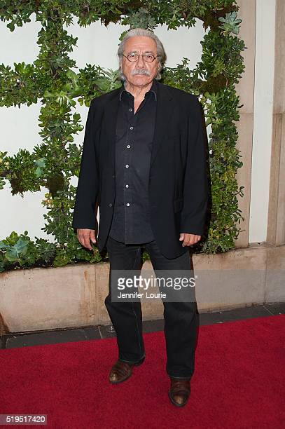 Edward James Olmos arrives at the Israel Film Festival Kickoff Sponsor Luncheon at the Four Seasons Hotel Los Angeles at Beverly Hills on March 31...