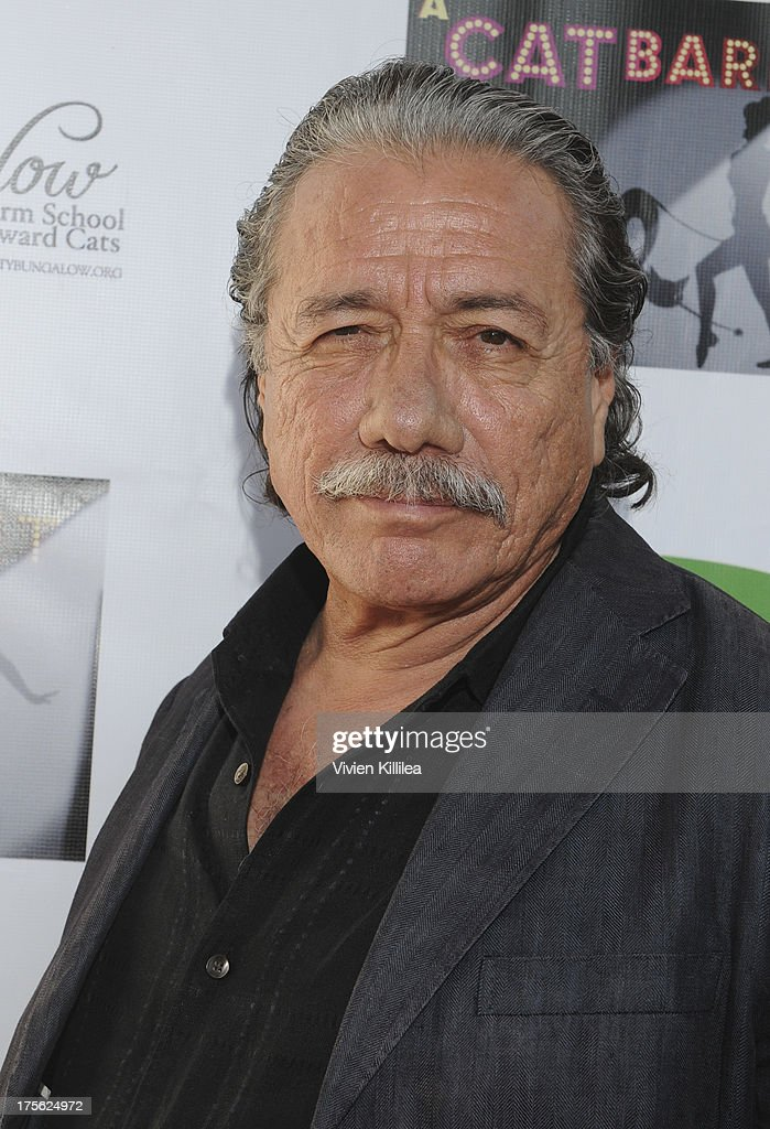 <a gi-track='captionPersonalityLinkClicked' href=/galleries/search?phrase=Edward+James+Olmos&family=editorial&specificpeople=213817 ng-click='$event.stopPropagation()'>Edward James Olmos</a> attends 'CATberet' - A Musical Review For Local Cat And Kitten Rescue Center Kitty Bungalow Charm School For WaywardCats at Belasco Theatre on August 4, 2013 in Los Angeles, California.