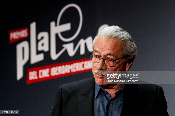 Edward James Olmos attends Platino Awards 2017 press conference on July 21 2017 in Madrid Spain
