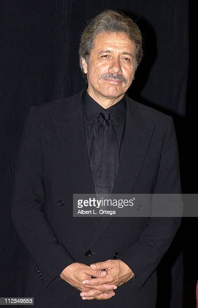 Edward James Olmos during 2002 ALMA Awards Gala Press Room at The Shrine Auditorium in Los Angeles California United States