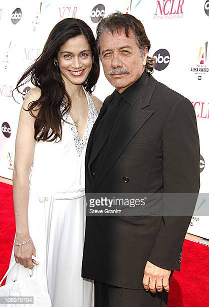 Edward James Olmos during 2006 NCLR ALMA Awards Arrivals at Shrine Auditorium in Los Angeles California United States